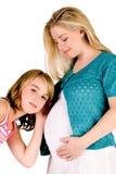 η κοιλιά μωρών θειών την ακ&omicro Στοκ εικόνα με δικαίωμα ελεύθερης χρήσης