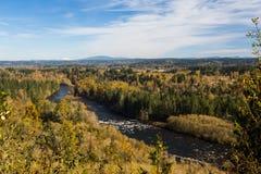 Η κοιλάδα ποταμών Clackamas αγνοεί στοκ εικόνες με δικαίωμα ελεύθερης χρήσης