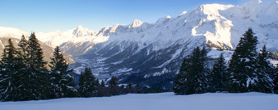 Η κοιλάδα Chamonix Στοκ Εικόνες