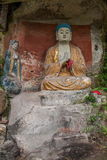 Η κομητεία Anyue, επαρχία Σισουάν στο βόρειο ναό σπηλιών Peacock δυναστείας τραγουδιού δημιούργησε τριών Βούδας τη σπηλιά, σπηλιά Στοκ φωτογραφίες με δικαίωμα ελεύθερης χρήσης