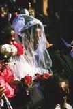 Η κοπτική γυναίκα παντρεύει σε Gondar, Αιθιοπία Στοκ Εικόνες