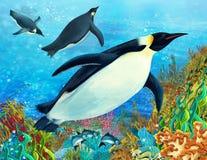 Η κοραλλιογενής ύφαλος - απεικόνιση για τα παιδιά διανυσματική απεικόνιση
