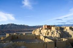Η κορυφή των καταστροφών δυναστείας Guge στο Θιβέτ Στοκ εικόνες με δικαίωμα ελεύθερης χρήσης