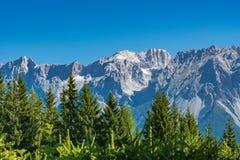 Η κορυφή Koppenkarstein στο βουνό Dachstein έτρεξε Στοκ Φωτογραφίες