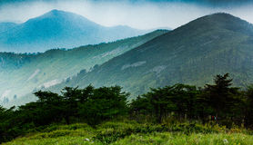 Η κορυφογραμμή βουνών Qinling Στοκ Φωτογραφίες