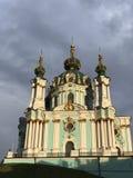 Η κορώνα της καθόδου Andriyivskyy είναι Άγιος Andrew ` s - κάθοδος Kyiv - της Ουκρανίας - Andriyivskyy στοκ φωτογραφίες