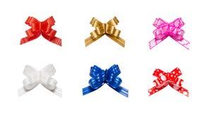 Η κορδέλλα υποκύπτει - κόκκινος, ρόδινος, μπλε, χρυσός - όλα τα χρώματα Στοκ Εικόνες