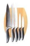 η κουζίνα knifes έθεσε Στοκ Εικόνες
