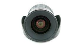 η κουκούλα φωτογραφικών μηχανών απομονώνει το λευκό φακών Στοκ φωτογραφία με δικαίωμα ελεύθερης χρήσης