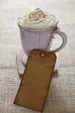 η κρέμα καφέ διαμόρφωσε την π Στοκ Εικόνα