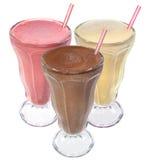 η κρέμα πίνει τον πάγο milkshake Στοκ Εικόνες