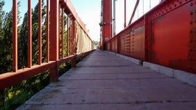Η κρεμώντας γέφυρα, πορεία peatonal στοκ εικόνες