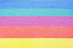 Η κρητιδογραφία χρωματίζει τις λουρίδες στοκ φωτογραφία με δικαίωμα ελεύθερης χρήσης