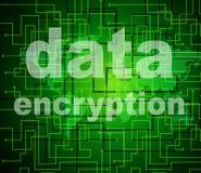 Η κρυπτογράφηση στοιχείων δείχνει τον προστατευμένοι κωδικό πρόσβασης και Cipher ελεύθερη απεικόνιση δικαιώματος