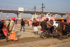 Η κυκλοφορία των ινδικών ατόμων Στοκ Φωτογραφία