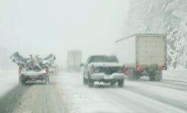 Χειμερινή οδήγηση Στοκ εικόνες με δικαίωμα ελεύθερης χρήσης