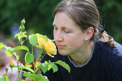 η κυρία αυξήθηκε κίτρινο&sigmaf Στοκ Φωτογραφίες