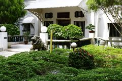 Η κυρία είσοδος του Loke Mansion στοκ εικόνες