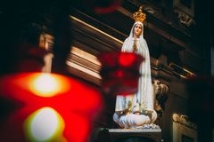 Η κυρία μας αγάλματος της Fatima στοκ εικόνα με δικαίωμα ελεύθερης χρήσης