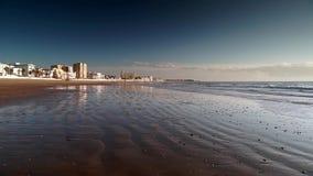 Η κυρία μας παραλίας Chipiona Καντίζ Ισπανία HD Regla απόθεμα βίντεο