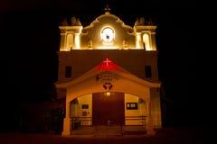 Η κυρία μας παρεκκλησιού υγείας τη νύχτα, Anjuna, Goa, Ινδία Στοκ Φωτογραφίες