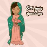 Η κυρία μας guadalupe ιερού Άγιος συμβόλου διανυσματική απεικόνιση