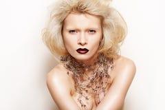 η κυρία μόδας κάνει το περ&iota Στοκ Φωτογραφία