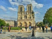 Η κυρία de Παρίσι, Παρίσι, Γαλλία καθεδρικών ναών notre Στοκ φωτογραφίες με δικαίωμα ελεύθερης χρήσης