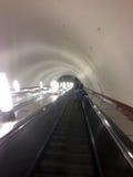 Η κυλιόμενη σκάλα στο μετρό της Μόσχας Στοκ εικόνες με δικαίωμα ελεύθερης χρήσης