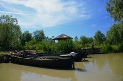 Η κωμόπολη Vilkovo τουριστών είναι πόλη στο νερό Η πόλη στις όχθεις του ποταμού Δούναβη 10 Ιουνίου 2014, περιοχή της Οδησσός στοκ εικόνες με δικαίωμα ελεύθερης χρήσης