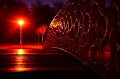 Η κόκκινη γέφυρα Στοκ Φωτογραφία