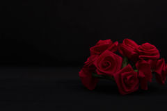 Η κόκκινη κορδέλλα αυξήθηκε στο σκοτάδι Στοκ φωτογραφία με δικαίωμα ελεύθερης χρήσης