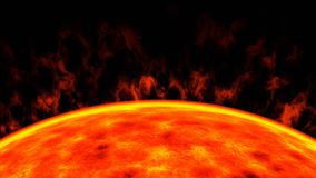 Η κόκκινη νάνα κινηματογράφηση σε πρώτο πλάνο ήλιων αστεριών, τρισδιάστατη δίνει στοκ φωτογραφίες