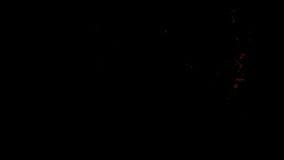 Η κόκκινη πυρκαγιά ξεσπά και εξασθενίζει μακριά, με την άλφα μάσκα διανυσματική απεικόνιση
