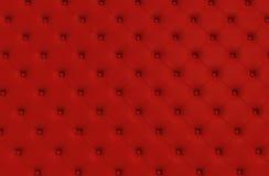 Η κόκκινη σύσταση του δέρματος γέμισε τον καναπέ Στοκ φωτογραφία με δικαίωμα ελεύθερης χρήσης