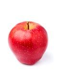 Η κόκκινη Apple βρίσκεται κάθετα κινηματογράφηση σε πρώτο πλάνο που απομονώνεται Στοκ φωτογραφίες με δικαίωμα ελεύθερης χρήσης