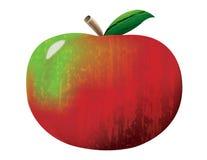 Η κόκκινη Apple με τις συστάσεις Στοκ εικόνα με δικαίωμα ελεύθερης χρήσης