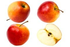 Η κόκκινη Apple στο άσπρο υπόβαθρο, που απομονώνεται Στοκ Εικόνες