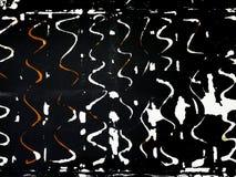 Η κόλλα λεκιάζει στον τοίχο μετά από να ξεφλουδίσει την ετικέτα μακριά στοκ φωτογραφία