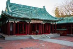 Η κύρια άποψη αιθουσών ναών των λαρνάκων Koxinga στο μνημείο του Ταϊνάν Ταϊβάν αφιέρωσε σε Koxinga τη δυναστεία Ming γενική στοκ φωτογραφία με δικαίωμα ελεύθερης χρήσης