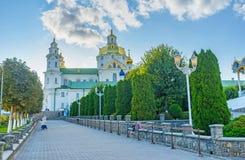 Η κύρια αλέα σε Pochayiv Lavra Στοκ Εικόνες