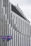 Η κύρια εκκλησία του Ρέικιαβικ Στοκ εικόνα με δικαίωμα ελεύθερης χρήσης