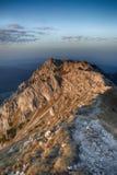 Η κύρια κορυφογραμμή των βουνών Piatra Craiului στοκ φωτογραφία
