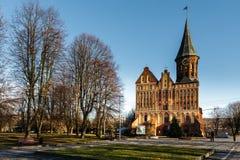 Η κύρια πρόσοψη του καθεδρικού ναού Konigsberg σε Kaliningrad Στοκ Εικόνα