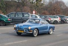 Η κλασική γερμανική VW Karmann Ghia αυτοκινήτων Στοκ εικόνα με δικαίωμα ελεύθερης χρήσης