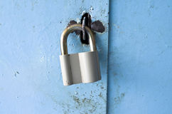 Η κλειδαριά στην πόρτα Στοκ Εικόνες