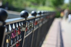 Η κλειδαριά της αγάπης Στοκ Εικόνα