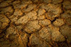 Η κλιματική αλλαγή, το έδαφος είναι ξηρά, ξηρασία, ραγισμένο έδαφος στοκ φωτογραφία με δικαίωμα ελεύθερης χρήσης