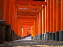 η λάρνακα πυλών fushimi στοκ φωτογραφία