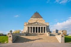 Η λάρνακα της ενθύμησης Πρώτος Παγκόσμιος Πόλεμος & ΙΙ μνημείο στη Μελβούρνη Στοκ φωτογραφία με δικαίωμα ελεύθερης χρήσης